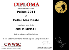 Gold Medal for our red wines Crianza 2009 and Semicrianza 2011
